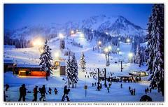 """Night Skiing""  5:365 - 2013 (Mark Hopkins Photography) Tags: family trees snow mountains night fun lights washington skiing sony pointandshoot day5 stevenspass wintersports pocketcamera snowsports 05jan13 day5365 3652013 365the2013edition"