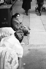 Byres Road Beggar (Nick Lambert!) Tags: street blackandwhite bw scotland fuji glasgow beggar streetscape byresroad nicklambert fujix100 fujinonasphericallens