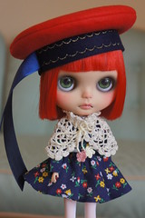 We were going outside but I didn't want to get my new beret wet in the rain.  How do I look?