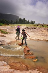 Storm and Crossing, Ethiopia (Rod Waddington) Tags: africa storm mountains rock clouds river stream crossing stones ethiopia tigray gheralta hawzen