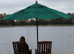 Chillaxing (sloansquared) Tags: vacation lake umbrella orlando florida relaxing lakeside seating chillax celebrationusa