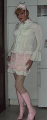 Sissy brolita (Felicia Colette) Tags: boots sissy transvestite miniskirt crossdresser sweetlolita brolita frillyblouse