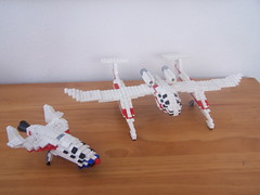 White Knight/SpaceShipOne (1) (rossart12) Tags: experimental lego space aircraft spaceship spaceshipone xprize whiteknight composites scaled
