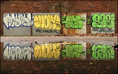 Masica Choke Regret SMC (Alex Ellison) Tags: urban reflection water graffiti masi reflected smc reg southlondon choke throw regret masika elephantcastle heygateestate throwie masica masicre