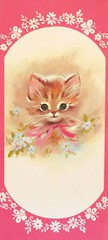Vintage Kitten Get Well Greeting Card 1960s (hmdavid) Tags: cat vintage kitten kitty card 1960s greeting getwell