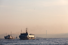 (MagdaBis) Tags: city trip morning water ferry turkey boat transport istanbul commute intercontinental bosforus