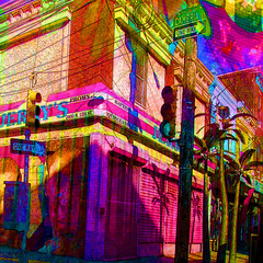 Cambria Street (brillianthues) Tags: city art philadelphia collage digital photography colorful vivid badlands awardtree vividimagionation
