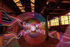 Stephenson Works DLW overload (- Hob -) Tags: longexposure lightpainting spiral multicoloured led mikeross arduino singleexposure 8764 sooc philwright   stephensonworks digitallightwand wwwfacebookcompageslightpaintingorguk517424921642831