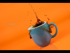 Day 30: Kerplunk! (Dusty J) Tags: orange coffee 50mm beans nikon sb600 drop dustin nikkor d800 sb700 gaffke dustingaffke