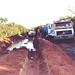 Caminhões encalhados por 3 dias