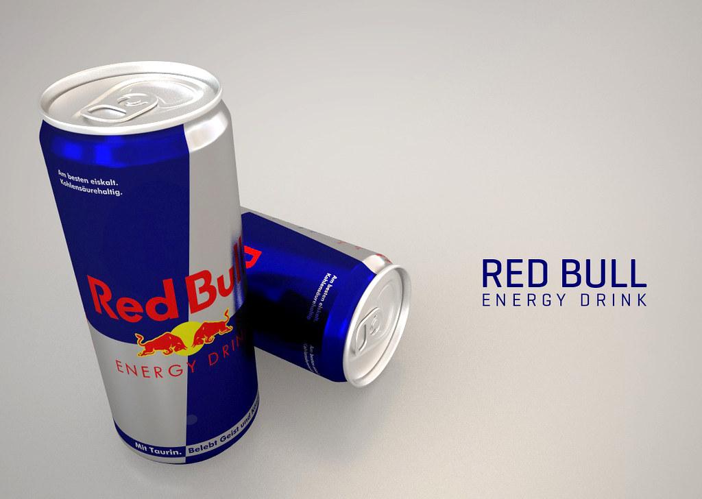 LATA RED BULL (Honorato) Tags  advertising 3d energy drink can cinema4d  redbull aluminium 68709615b96