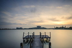 """Solitary"" (Nur Ismail Photography) Tags: longexposure sunset slowshutter picc gettyimages leefilters putrajayainternationalconventioncentre jambatanserigemilang sifoocom nurismailphotography nurismailmohammed nurismail"