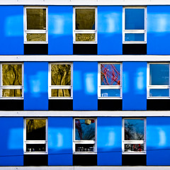 facade (morbs06) Tags: blue windows light abstract colour lines architecture facade reflections germany square graphic dortmund