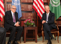 Vice President Biden at Bilateral talks with the Special Representative of the United Nations and the League of Arab States on the Syrian crisis, Lakhdar Brahimi (usbotschaftberlin) Tags: munich msc biden 2013 usbotschaft brahimi msc2013