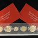 5019. (2) Uncirculated 1976 Three-Piece 40% Silver Sets