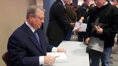 Al Gore signing books