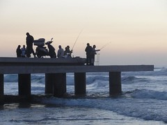 Fishing, Bat Yam seashore (dlisbona) Tags: sea vacation mer holiday beach vacances israel telaviv seaside batyam