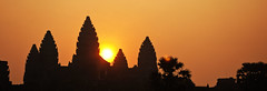 Angkor Silhouette (William J H Leonard) Tags: orange sun building silhouette architecture sunrise buildings asian temple ruins asia cambodia southeastasia cambodian buddhist buddhism angkorwat siemreap angkor hindu hinduism buddhisttemple hindutemple southeastasian angkorcomplex earthasia
