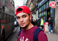 Union Street (Charles Hamilton Photography) Tags: street city red portrait people face hat 35mm colours traffic glasgow candid streetphotography streetportrait tourist shoppers unionstreet busystreet characterstudy peopleinthecity nikond90 glasgowstreetphotography glasgowstreetportrait