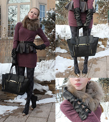 love belt outfit (Natalie Ast) Tags: black love leather scarf fur grey belt vegan outfit shoes warm purple 21 style joe tights blogger fresh fox mauve forever phillip collar fleece moschino 31 lim stilettos patterned pleather foxfur danier peplum ootd go0ld pashli nowistyle