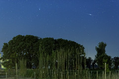 Comet Panstarrs and Iridium Flare