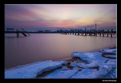 Soft Setting (ken.krach (kjkmep)) Tags: longexposure sunset ice bulb pier maryland middleriver wilsonpoint