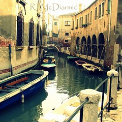 Sweet memories (RachaelMc) Tags: travel venice sky italy tourism water buildings reflections square boat canal crossprocessed italian holidays italia venetian palazzo venise venezia processed venedig treated travelphotography rachaelmc aloveofvenice rjmcdiarmid