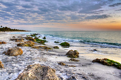 Casperson Tonemapped (flutterbye216) Tags: sky beach gulfofmexico water rocks florida elite photomix caspersonbeach canoneos60d blinkagain flutterbye216 bestevergoldenartists challengeclubchampion