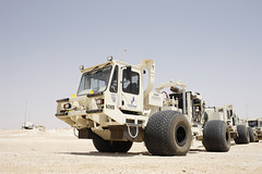 A seismic truck in Oman (BP_images) Tags: energy technology bp oman seismictruck