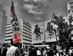 we... (Eleanna Kounoupa) Tags: street sky blackandwhite white black weather clouds poster banner athens greece protests ελλάδα σύννεφα blackwhitephotos αθήνα αφίσα δρόμου hccity ουρανόσ διαδηλώσεισ καιρόσ πανώ μαυρόασπρεσ διαμαρτυρίεσ