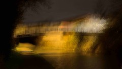 Shine on me (wetbicycleclappersoup) Tags: bridge canal coventry icm longford cv6 intentionalcameramovement