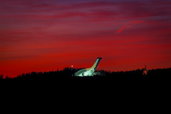 Under A Blood Red Sky (Tore Thiis Fjeld) Tags: winter light sunset red snow color skye oslo norway twilight nikon colorful d800 skijump holmenkollen silhouett holmenkollenskijump blodred