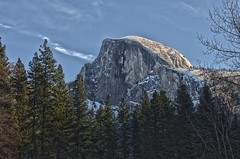Half Dome_HDR2 (rschnaible) Tags: california park ca trees usa mountain mountains west tourism forest point landscape us view nevada landmark tourist sierra explore national valley yosemite western destination geology hdr kansallispuisto  geologic explored  pirc yosemiten  nisinta nrpad yosemite
