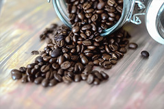 DBP488 (danababy1076) Tags: morning coffee beans drink jar spill coffeebeans