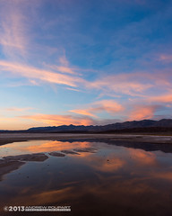 Reflection In A Parched Land (andy_57) Tags: sunset reflection water clouds playa deathvalley saltcreek d800 furnacecreek 20mmf28d seatosummitworkshops
