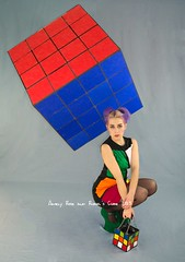 Amely Rose and Rubic´s Cube (amelyrose) Tags: news game hot art beauty photo blog fb magic puzzle shooting rubik lookbook thebizarrebirdcage amelyrose 3dcombination cubemathe