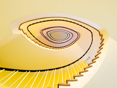yellow curves (Maximilian Zimmermann) Tags: yellow architecture stairs hamburg treppe explore gelb staircase architektur handrail treppenhaus explored