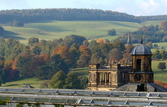 Chatsworth House - the rooftops (Tony Worrall) Tags: uk roof england sculpture green art glass gardens modern landscape artist tour rooftops display sale modernart derbyshire country visit location hills made greenhouse features visitors artworks chatsworth midlands chatsworthhouse pemberley tourisim sculptered beyondlimitssculptureexhibition deathcomestopemberley 2013tonyworrall