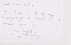 letter-20130315 (R@min) Tags: uk england london message letter shiva balham 2013