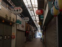 roof covered mall (kasa51) Tags: sign japan digital alley olympus omd kurashiki shoppingstreet   f4056 em5 918mm  mzuiko