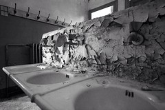 Wash your sins ( Vol. I ) (piper969) Tags: old bw abandoned bathroom decay bn wash bagno sins vecchio abbandono rubinetto lavandino