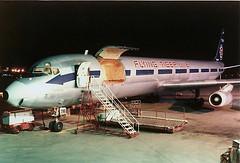N790FT Flying Tigers DC-8F at KCLE (GeorgeM757) Tags: airplane aircraft cargo douglas flyingtigers clevelandhopkins dc8 mcdonnelldouglas cle airfreight n606al alltypesoftransport nightairplane dadue n790ft germancargo dc863af
