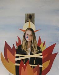 5 henry vi pt1 (penelope waits) Tags: collage paper fire flames halo shakespeare burn watercolour tear diorama joanofarc joandarc