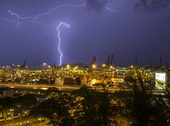 Lightning @ Tanjong Pagar Terminal, PSA, Singapore (gintks) Tags: seascape singapore singapur psa boltoflightning exploresingapore singaporetourismboard portofsingapore yoursingapore gintks gintaygintks