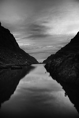 The inevitable passage of time~ Ireland (~mimo~) Tags: blue sunrise morning time hourglass blackandwhite landscape longexposure reflection mountain river clouds sky ireland gapofdunloe blackvalley