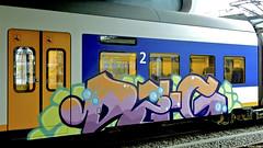 Painted Train (Akbar Sim) Tags: trein train sprinter graffiti holland nederland netherlands akbarsim akbarsimonse illegal