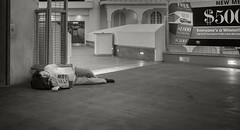 Everyone's a Winner!  -  Las Vegas (fotographis) Tags: leica city blackandwhite blackwhite cityscape lasvegas homeless streetphotography summicron predawn tropicana highiso leicam 35mmsummicron leicam240
