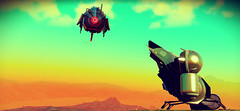 Robotic Gestures (D u b l) Tags: video games hello no mans sky nms havoc space ships foliage planet set blue sentinel robot sleek