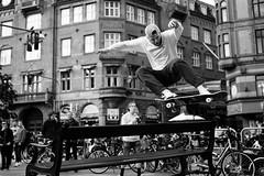 The jump (Niels Nrskov) Tags: copenhagen denmark cityhallsquare skaters jump leicam monochrome bw 35mm summicron skateboard