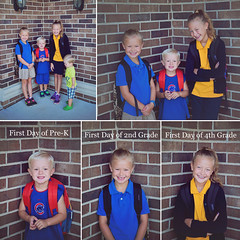 365 Project - August 23 (lupe1515) Tags: 365 project first day school olivia hannah aj henry composite siblings backpacks